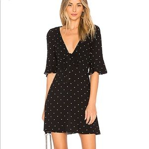 Free People All Yours Polka Dot Tie Front Dress